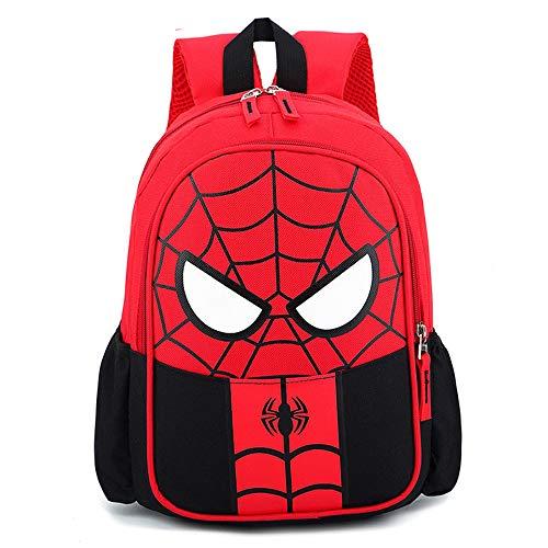 YKKJ Zaino per bambini Spiderman , Borsa 3D impermeabile, Zaino Super Hero 3D Zaino Borse per bambini Campeggio Escursionismo.