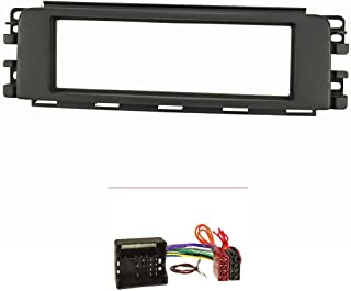 tomzz Audio 2451 029 Radioblende Set kompatibel mit Smart forfour 454 anthrazit/schwarz mit Quadlockadapter ISO