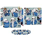 Sans Undertale Pixel Smile Controller Skin Protector Game Machine Stickers Vinyl Anime Decal Compatible for PS4 Slim