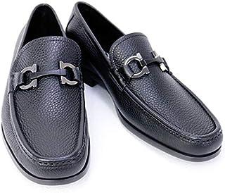 [サルヴァトーレ フェラガモ] 靴 メンズ ガンチーニ ビジネスシューズ ローファー ブラック (GRANDIOSO 0642848 NERO) [並行輸入品]