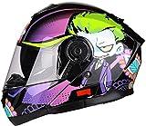 Casco de la motocicleta de la cara del tirón del tirón llena del casco casco ligero auricular Bluetooth colisión DOT / ECE aprobado for modular scooter de crucero del interruptor de crucero piloto de