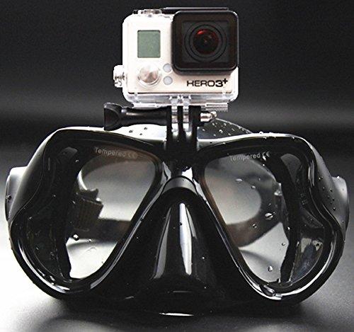 WOWDECOR Tauchmaske für Gopro Kamera Erwachsene Kinder mit Kurzsichtigkeit Kurzsichtig, Schnorchelmaske Taucherbrille Dioptrin Dioptrien Korrektur - Alles schwarz (-4,0)