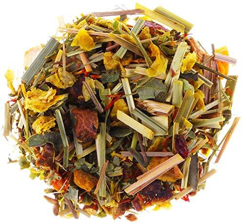AURESA Sanddorn Tee mit Vitamin C und Zink   Loser Früchtetee mit milden Zutaten wie Apfel und Karotte   Süß und spritzig