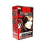 2x Schwarzkopf Brillance Duo-Glamlights/ 2- farbige Strähnchen/ Granatrot & Bernstein/ Rot- und Blond-Ton/ Dauerhafte Coloration/ Haarfarbe
