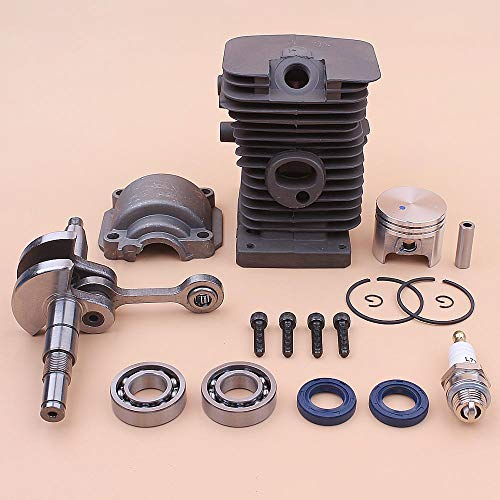 Replacement Parts for Yuton Crankshaft 37mm Cylinder Piston Engine Pan Base Kit for Stihl MS170 017 MS 170 Crank Bearing Oil Seal Chainsaw 1130 020 1204
