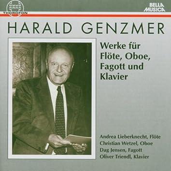 Harald Genzmer: Werke für Flöte, Oboe, Fagott und Klavier