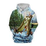 Men Women 3D Tropical Fish Printed Hoodie Long Sleeve Pullover Hooded Sweatshirts Tops Blouse K10 5XL