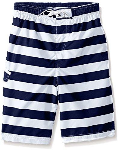 Kanu Surf Boys' Toddler Specter Quick Dry UPF 50+ Beach Swim Trunk, Troy Navy/White, 4T