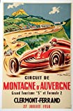 Clermont Ferrand Auvergne 1958 Poster Reproduktion/Format