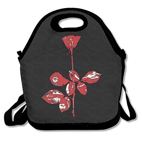 Dozili Depeche Mode große und dicke Neopren-Lunch-Taschen, isolierte Lunch-Tasche, warm, mit Schultergurt, für Damen, Teenager, Mädchen, Kinder, Erwachsene