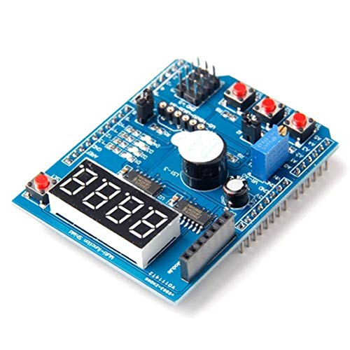 HiLetgo Multi-Functional Interface Shield Protype Shield Expansion Board for Arduino UNO Mage 2560 with DS18B20 LM35 Infrared Receiver Buzzer Bluetooth Wireless Interface Expansion Function