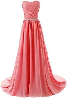Aurora Bridal Women's Long Chiffon Bridesmaid Dresses Formal Evening Gowns AB018