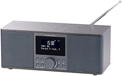 VR-Radio Stereoradio: Digitales DAB+/FM-Stereo-Radio, Bluetooth & Wecker, 30 Watt, schwarz (DAB Plus Radio)