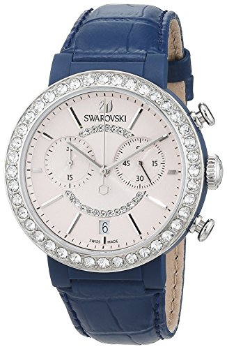 Swarovski Damen Analog Quarz Uhr mit Leder Armband 5210208