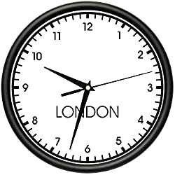 SignMission London Wall World time Zone Clock Office Business, Beagle