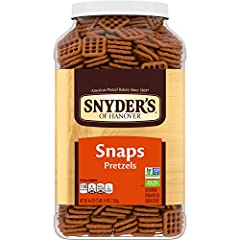 Crunchy pretzels: our pretzel Snaps offer all the rich, hearty flavor of traditional pretzels in a crunchy, checkerboard shape Pretzel snack: Snaps are a perfect snack at home or on-the-go Non-gmo school snack: Our pretzels are Non-GMO Project Verifi...