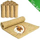 Lot de 10 tapis pour rongeurs 100 % chanvre 40 x 25 cm Épaisseur 5 mm