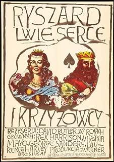 King Richard and the Crusaders Movie Poster (27 x 40 Inches - 69cm x 102cm) (1954) Polish -(George Sanders)(Rex Harrison)(Laurence Harvey)(Virginia Mayo)(Robert Douglas)(Michael Pate)