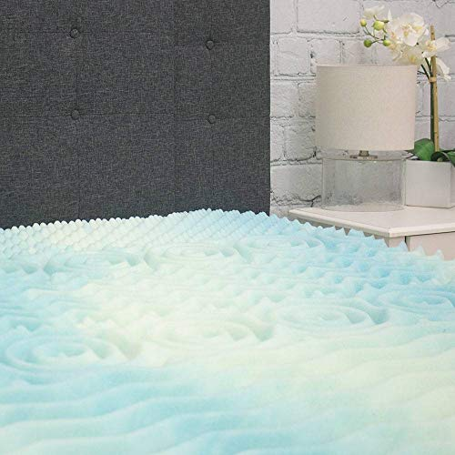Beautyrest Mattress Topper - 5 Zone Convoluted Temperature Regulating Memory Foam Mattress Pad - Egg Crate Mattress Toppers - 1.8 lb Density for High Support and High Response - Made In USA - Twin XL