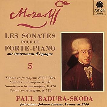 Mozart: Les sonates pour le forte-piano sur instrument d'époque, Vol. 5