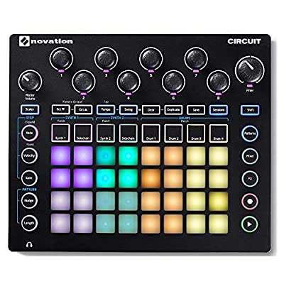 Novation Circuit Groove Box with Sample Import: 2-Part Synth, 4-Part Drum Machine and Sequencer by Focusrite/Novation