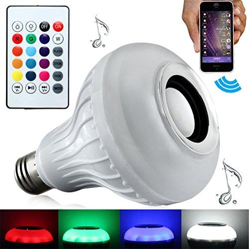 Bluetooth Smart Light Bulb LEDMOMO RGB LED Music Light Bulb with...
