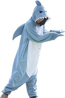 Pijamas de Tiburón Animal Trajes de Cosplay Adultos Unisex