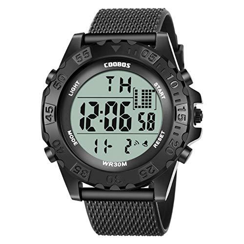 Kinderen kijken XYDBB Kinderen kijken digitale sporten Siliconen horloges Meisjes Buiten Led Week Beste cadeau voor jongens Zoals afgebeeld3 zwart