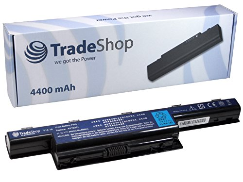 Trade-Shop High-Performance Li-Ion Laptop Battery 4400 mAh for Acer eMachines E732G E732Z E732ZG G440 G530 G640 G640G G730 G730G G730Z G730ZG D 440, 442 D 528 D 530 D D 640g 640, 642, 728, 730 d 730g