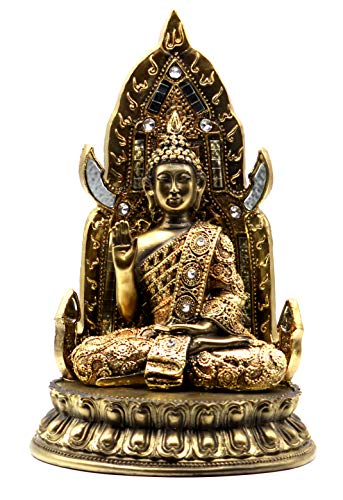 Crystal Collection- 11 Inches Zen Meditation Praying Buddha Statue for Yoga, Relaxing, Spiritual, Peace, Love Accents Home, Office Decor/Decoration Buddah Figurines Decorations Sculptures Gifts