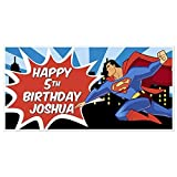 Superman Birthday Banner Party Decoration Backdrop