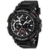V2A Analogue - Digital Men's Watch (Black Dial Black Colored Strap)