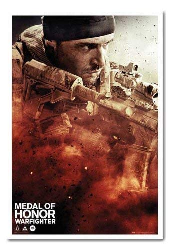 Medal Of Honour Poster Warfighter, Cover Magnettafel weiß Rahmen, 96,5 x 66 cm (ca. 96,5 x 66 cm)