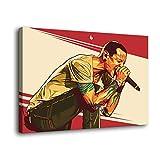 Póster de Chester Bennington Linkin Park en lienzo y arte de pared con impresión moderna para decoración de dormitorio familiar