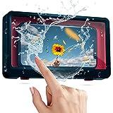 Custodia per telefono doccia - Custodia per telefono a parete - Touch screen per bagno Porta cellulare impermeabile Scatola -Custodia per telefono a parete - per telefoni inferiori a 6,8 pollici