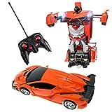 HUSAN Verformung Auto Spielzeug, Fernbedienung Auto Roboter Spielzeug Deformation mit einem klick...