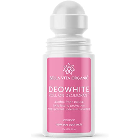 Bella Vita Organic Deo White Deodorant For Women 75 ml Roll On Natural Under Arm Skin Whitening & Lightening For Girls, Ladies, Aluminium Free