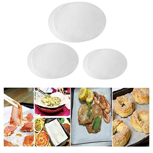 Parchment Paper Baking Circles Set - 4 inch, 7 inch, 9 inch Non-Stick Round Baking Paper.
