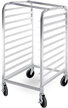 ARKSEN Commercial Kitchen 10 Tier Bun Pan Half Height Rack Sheet Aluminum w/Brake Wheels
