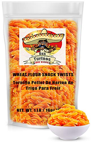 Duritos (Duros) Mexican Wheat Pellet Twists 1LB - Fritura De Tornillo - Traditional Fried Snack- by Turinos
