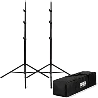 """Fovitec 2-8'3\"""" Spring Cushioned Collapsible Light Stand Kit with Carrying Bag for Speedlight and Off-Camera Flash Photogr..."""