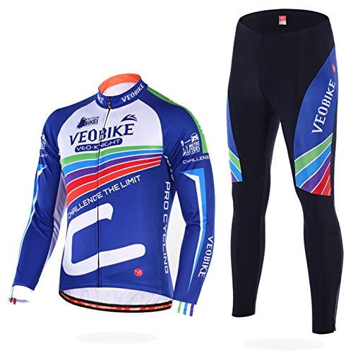 AmDxD Herren Fahrradtrikot Rad Trikot Regenbogen Radfahren Jersey Schnelltrocknend Atmungsaktiv Sport MTB Bekleidung Größe XXL