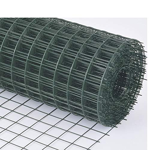 LJIANW Plastic Fencing, Green Chicken Wire Net, Anti-rust PVC Coated Hard Plastic Barrier For Stair Protection Balcony Safety Petnet, Hole Size: 60mm (Color : 2mm, Size : 1.2x30m)