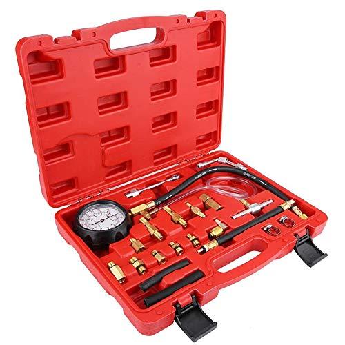 Jauge de carburant, essence huile d'essence de gaz de la pompe d'injection Diesel Tester trousse à outils d'auto-diagnostic avec unité Psi Bar,Rouge