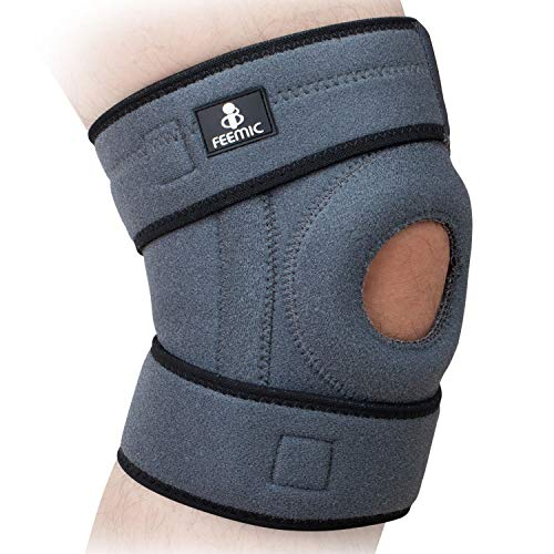Knee Brace Support for Men & Women, Knee Compression Sleeve with Open Patella Stabilizer for...