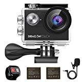 Dragon Touch 4K EIS WiFi Action Camera Vision 4 Waterproof Camera Support External