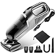 Gugusure Car Vacuum Cleaner High Power, Corded Car Vacuum for Car Interior Cleaning, Handheld Vacuum for Cars