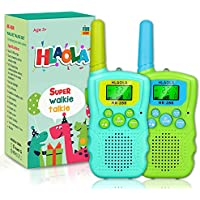 2-Pack Hlaola Walkie Talkies with Backlit LCD Flashlight (Mint Green & Candy Green)