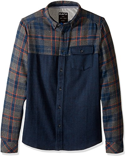 KAVU South Fork Chemise pour Homme XL Midnight