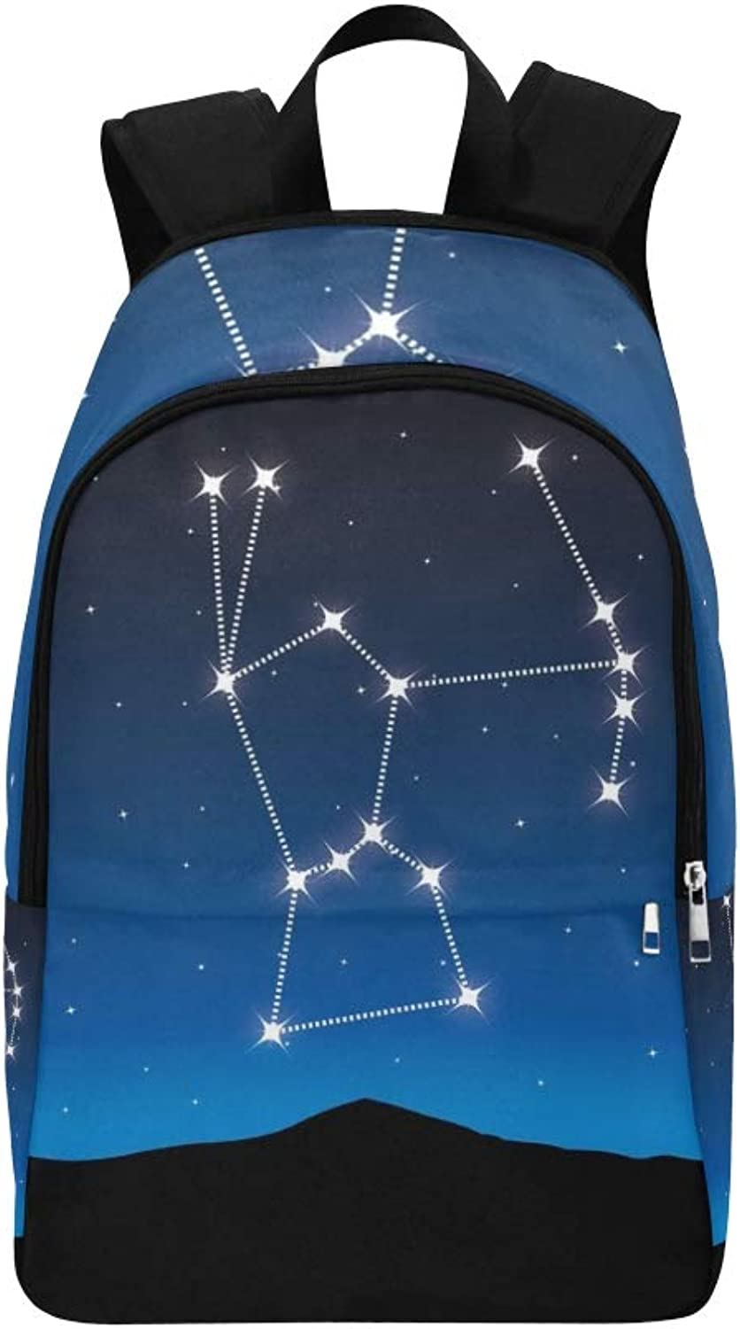 Constellation Orion Casual Daypack Travel Bag College School Backpack for Mens and Women